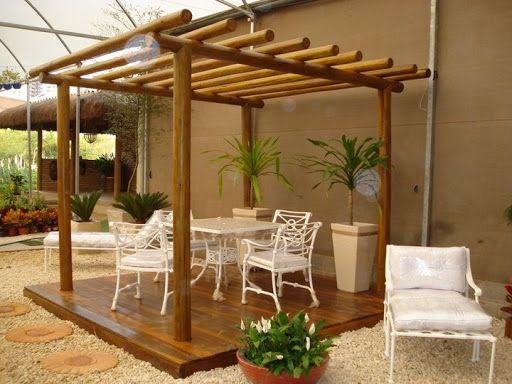 Jardins com pergola de bambu pesquisa google moveis de bambu pinterest searching - Pergolas de bambu ...