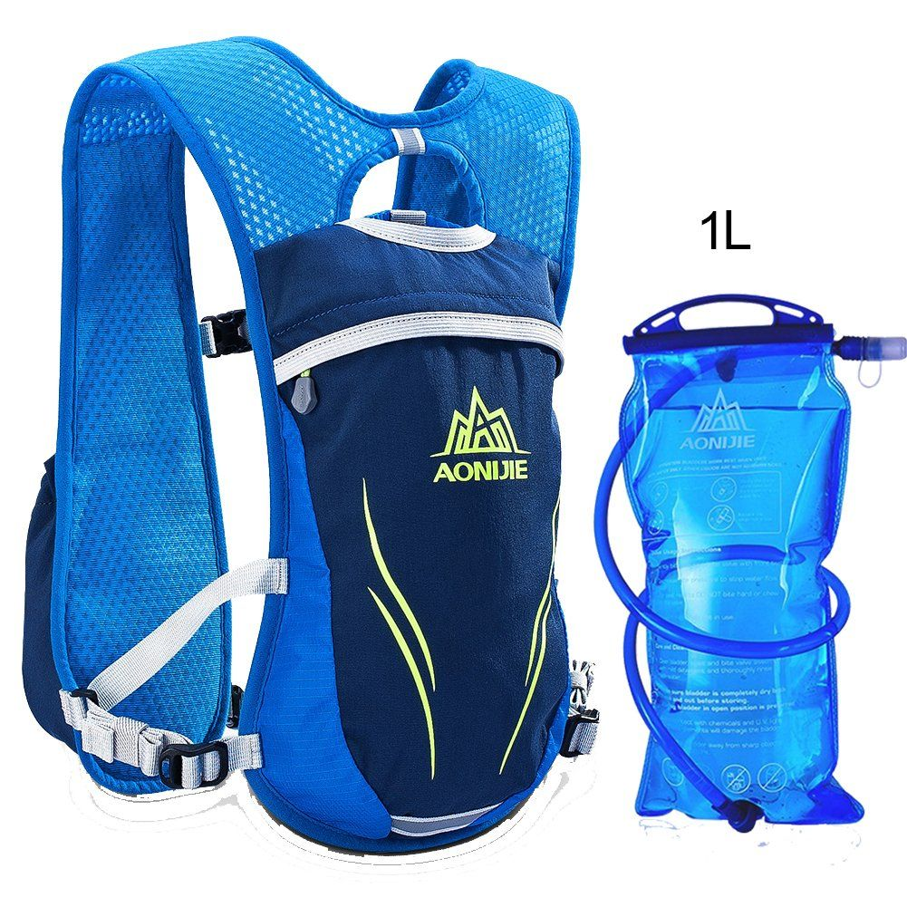 d71be865b0 AONIJIE Running Vests Hydration Pack with 1L Hydration Bladder Camel Pack  Backpack for Trail Running Cycling