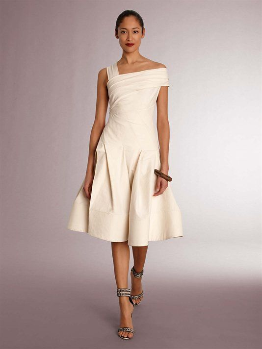 13c662f63f3 Donna Karan Slash Dress with Full Skirt