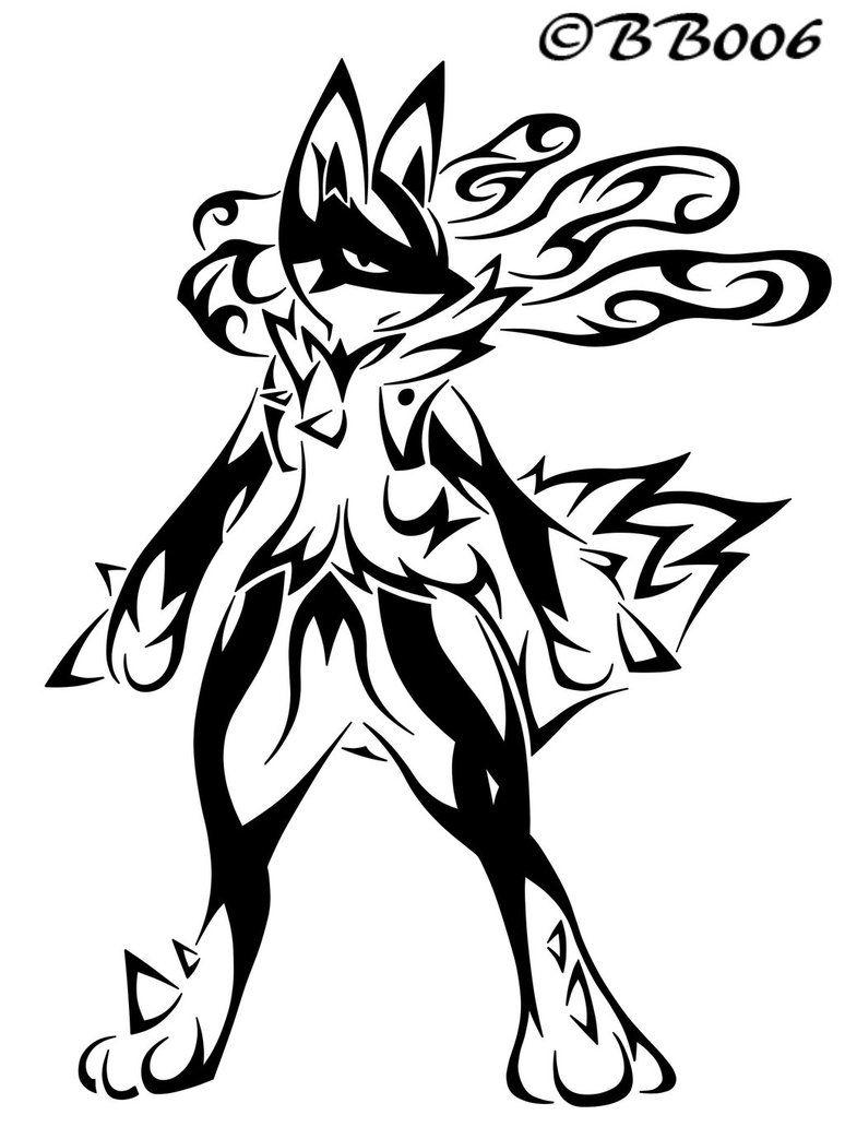 Tribal MegaLucario by blackbutterfly006 Dibujos de