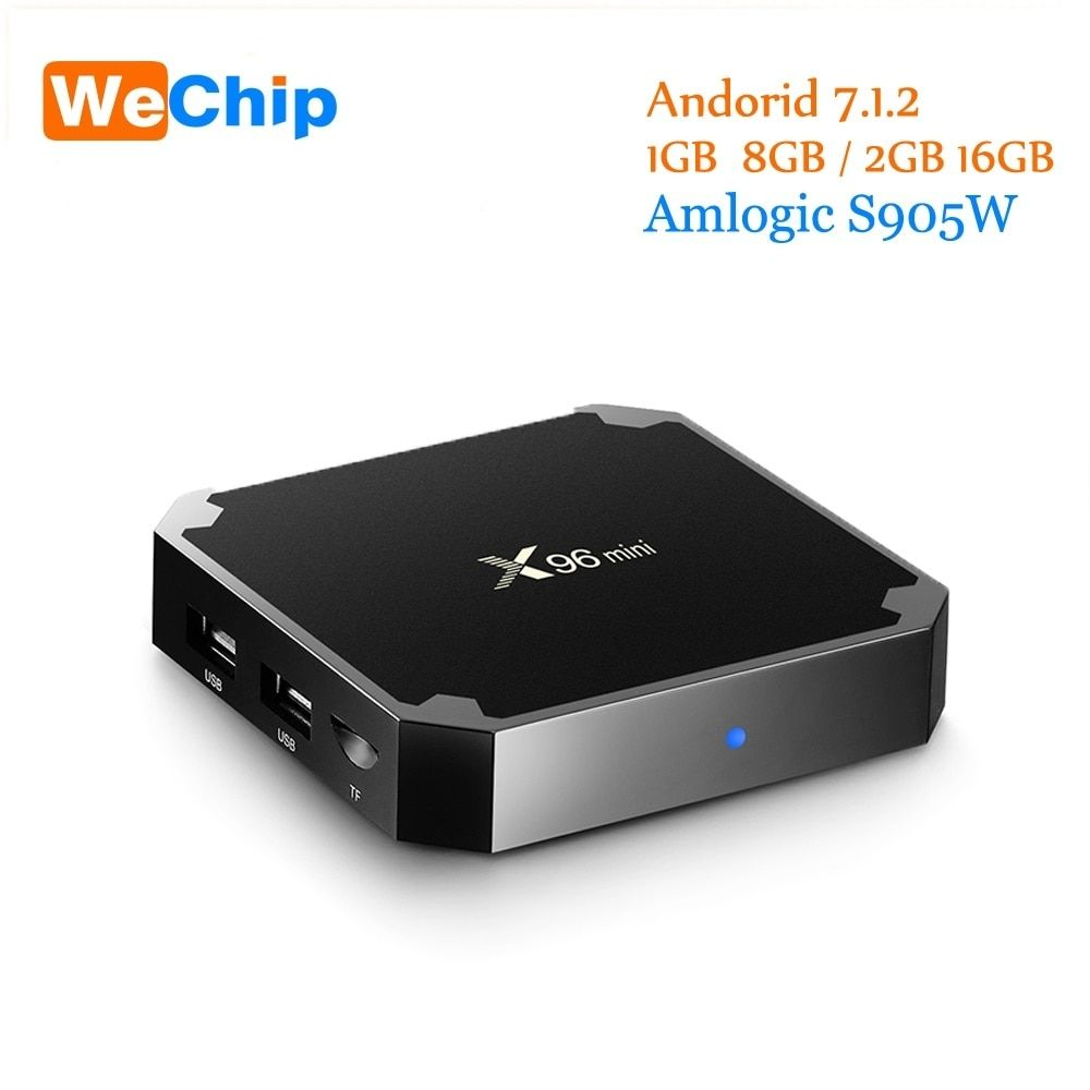 Mini TV Quad Core WiFi HD 4K Player X96 2G+16G Box Android 7.1.2 Amlogic S905W
