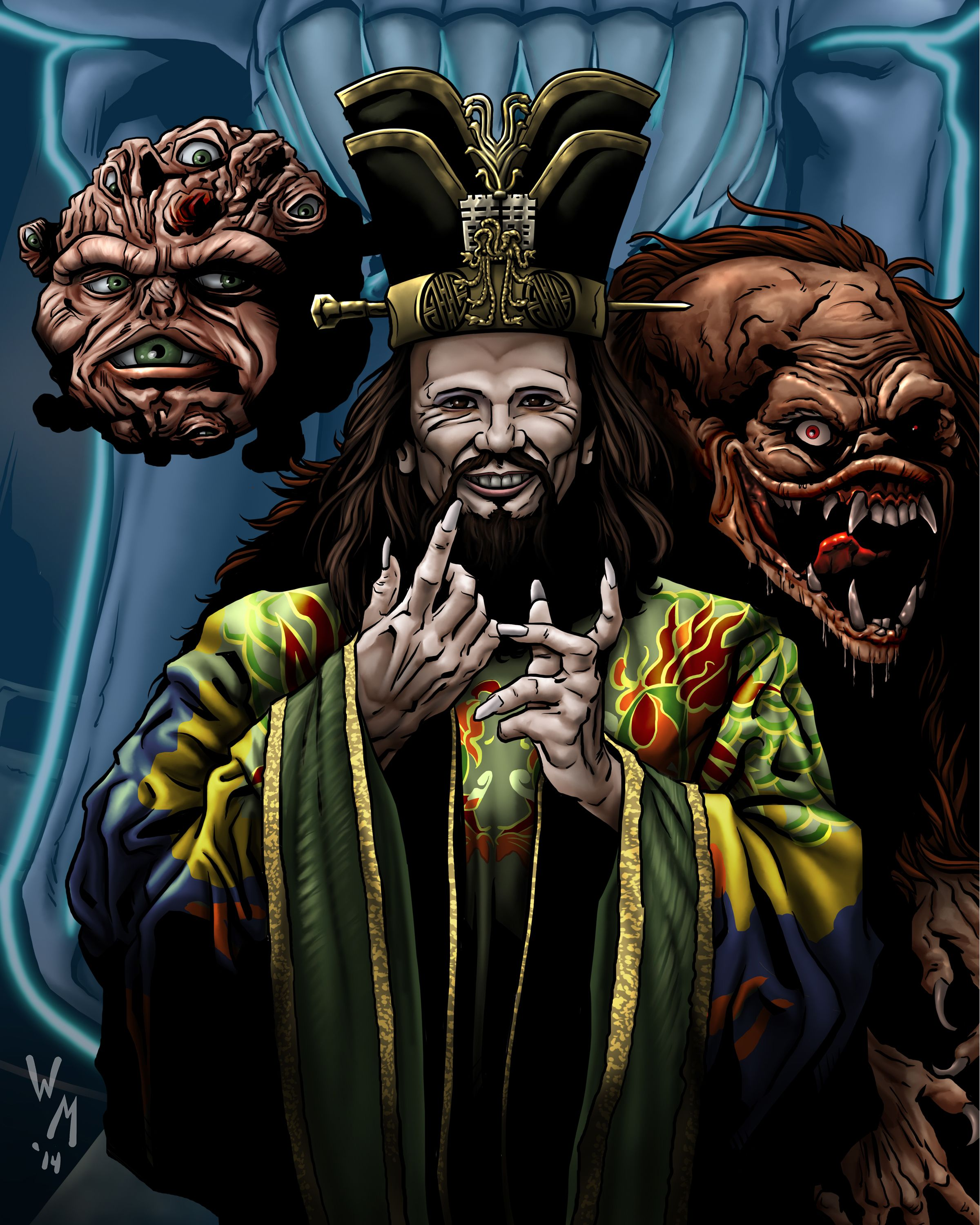 David Lo Pan James Hong From Big Trouble In Little China Drawn