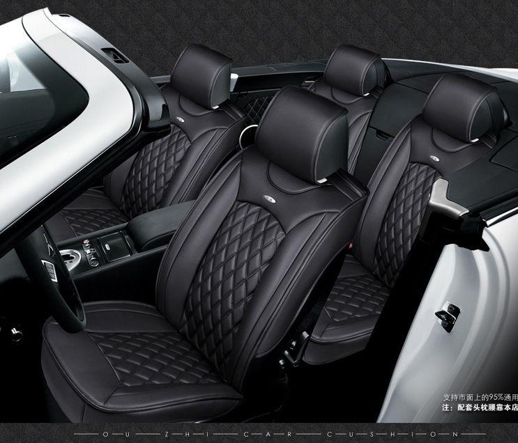 OUZHI for ford focus fiesta fusion Kuga EDGE black soft leather car ...