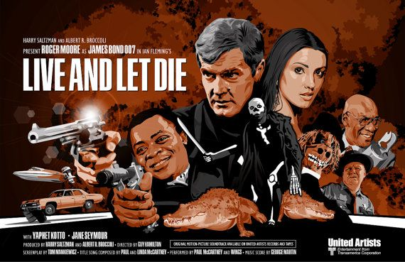 James Bond 007 Fan Art Updated Live And Let Die 17 X 11