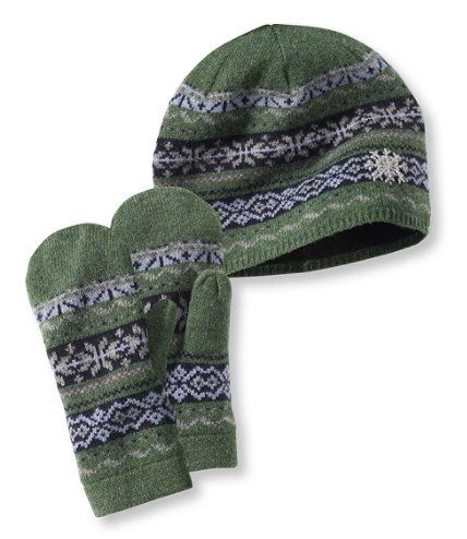 Women's Portland Fair Isle Hat and Mittens Set: Hats and Headbands ...