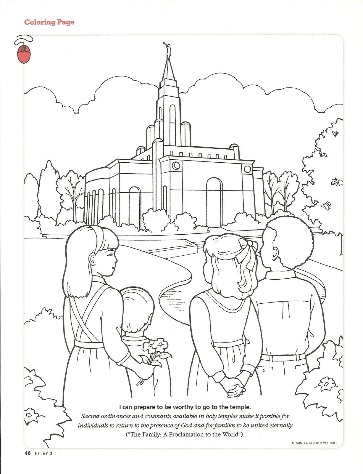 LOTS of cute coloring pages for church | LDS | Pinterest | Churches ...