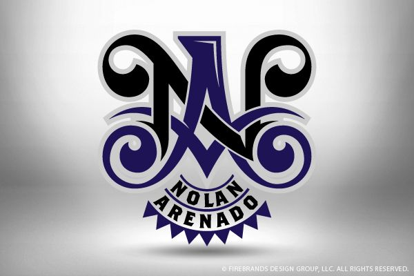 FireBrands Design Group - Branding by Russell Halsted for Colorado Rockies third baseman Nolan Arenado. Usage - Merchandise and social media for Charity Artworx.