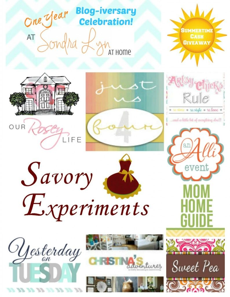 Check out these great blogs --- they are co-hosting a fun $650 summertime giveaway!