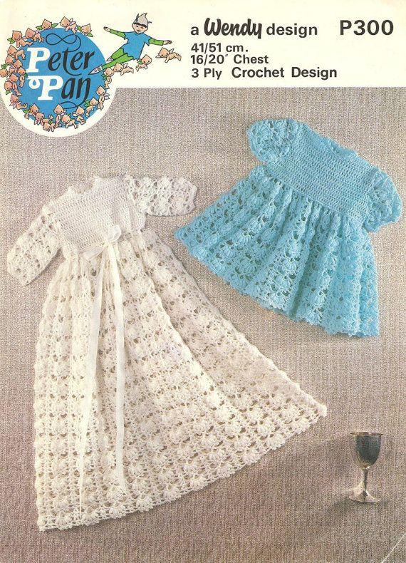 baby crochet vintage christening dress crochet pattern PDF ...
