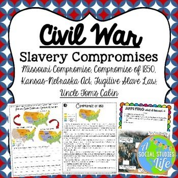 missouri compromise compromise of kansas nebraska act  missouri compromise compromise of 1850 kansas nebraska act fugitive slave law