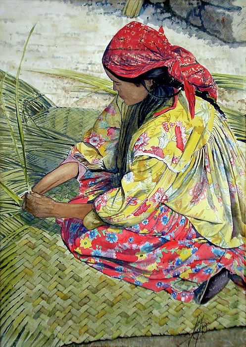 """""""Tarahumara Woman"""" by Juan Jose Espinoza Mexican"""