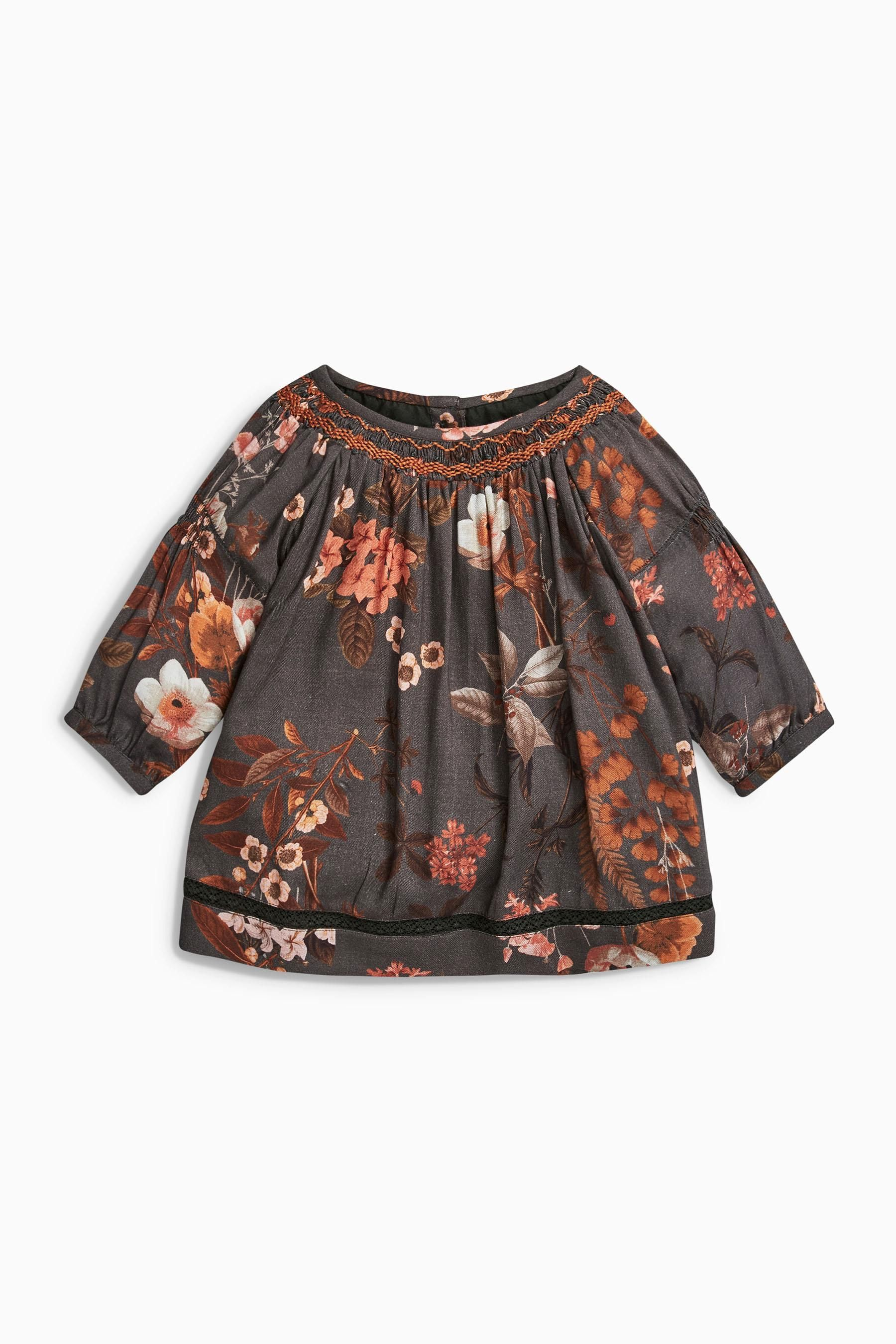 Buy Charcoal Floral Blouse 0mths 2yrs Online Today At Next United