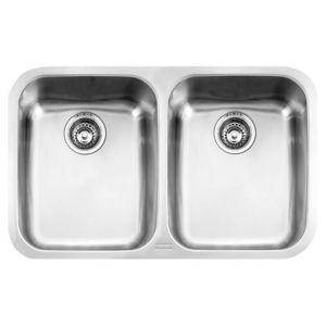 Eurodomo Sevillel Undermount Sink 2 Bowl Undermount Stainless Steel Sink Undermount Sink Sink