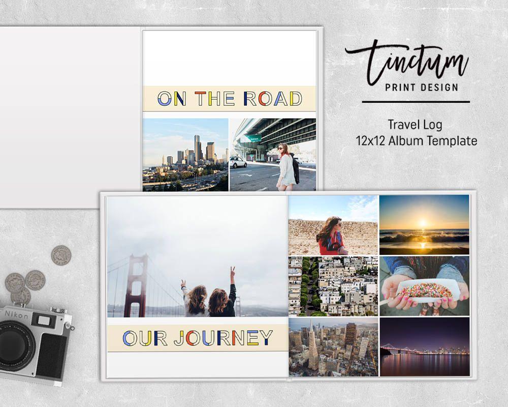 Travel Album Template Travel Log Photoshop Album Template