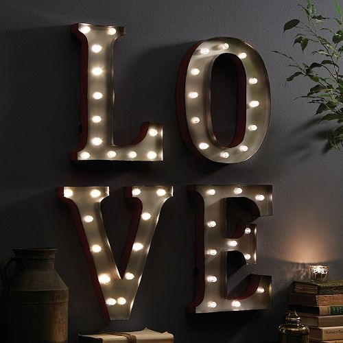 Led Sign Home Decor: Apothecary ''LOVE'' LED Marquee Sign Decor