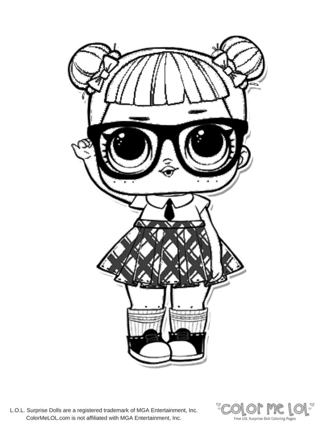Lol Coloring Page Coloring Pages Lol Surprise Doll
