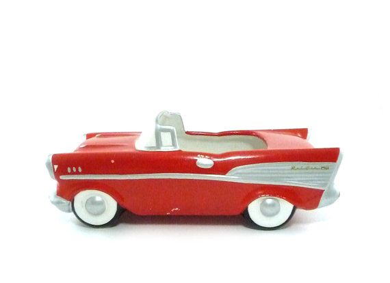 Vintage Car Planter 1957 Chevy Convertible Cool Cars
