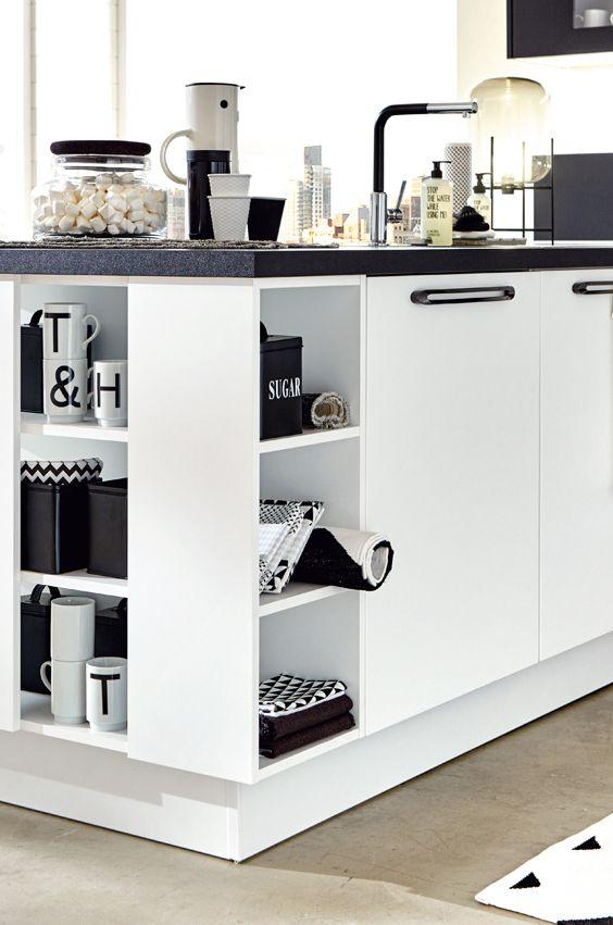 Classicküche, Küche Kontraste in weiß Schwarz Weiß Mix Pinterest - küche schwarz weiß