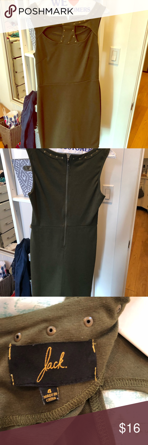 Green dress night out  Olive green going out dress size   My Posh Closet  Pinterest