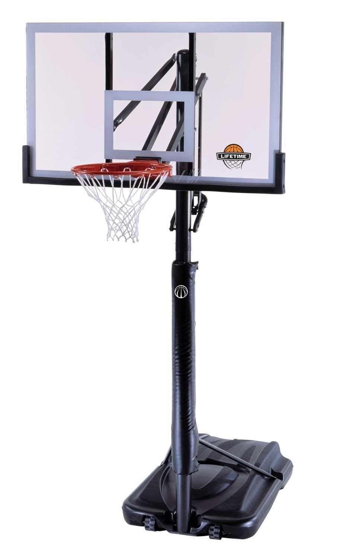 51523 Lifetime Portable Basketball System Reebok Features A Clear 54 X 33 X 1 5 St Portable Basketball Hoop Lifetime Basketball Hoop Basketball Systems