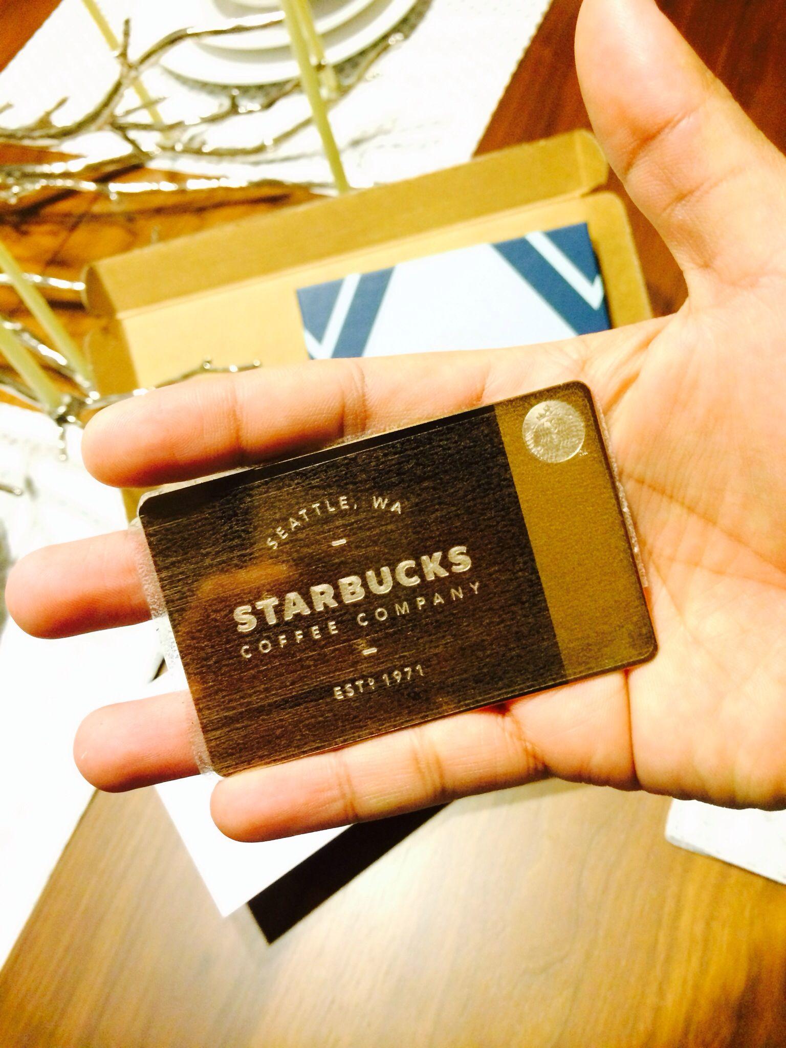 Limited edition starbucks rose gold card starbucks
