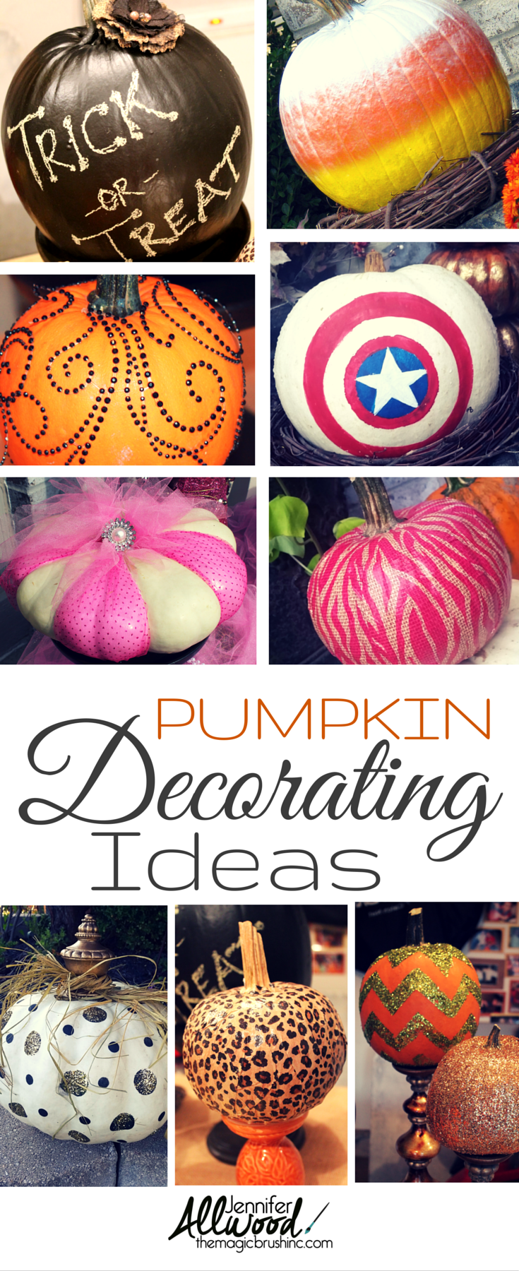Ideas : Forget carving! There are tons of fun pumpkin decorating ideas for Halloween and fall at theMagicBrushinc.com