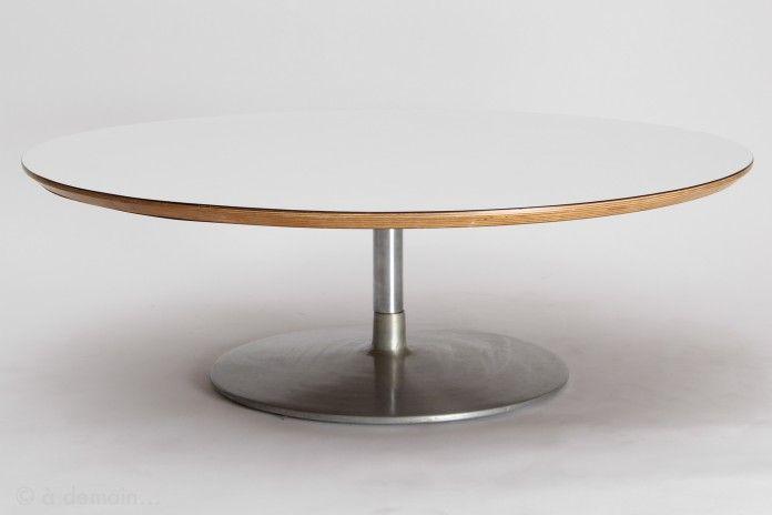 Table basse Circle ronde par Pierre Paulin pour Artifort, 1960s ...