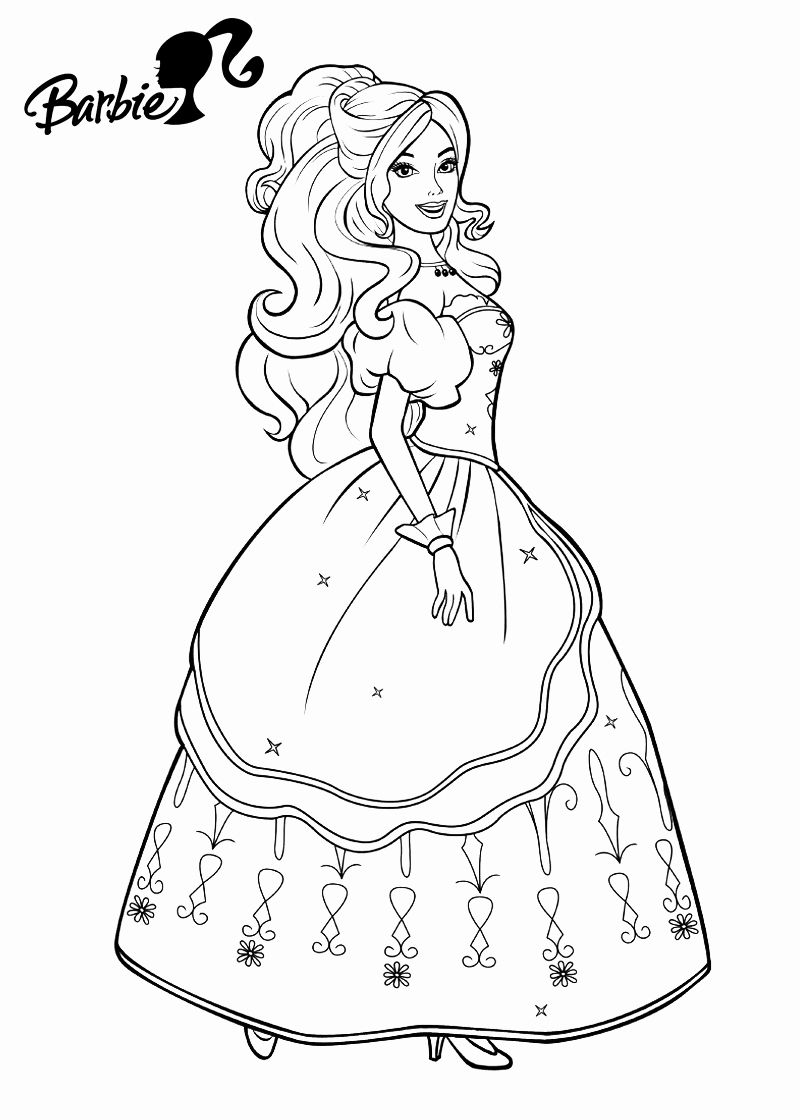 Princess Coloring Games Online Awesome Theinn Barbie Coloring Pages Barbie Coloring Princess Coloring