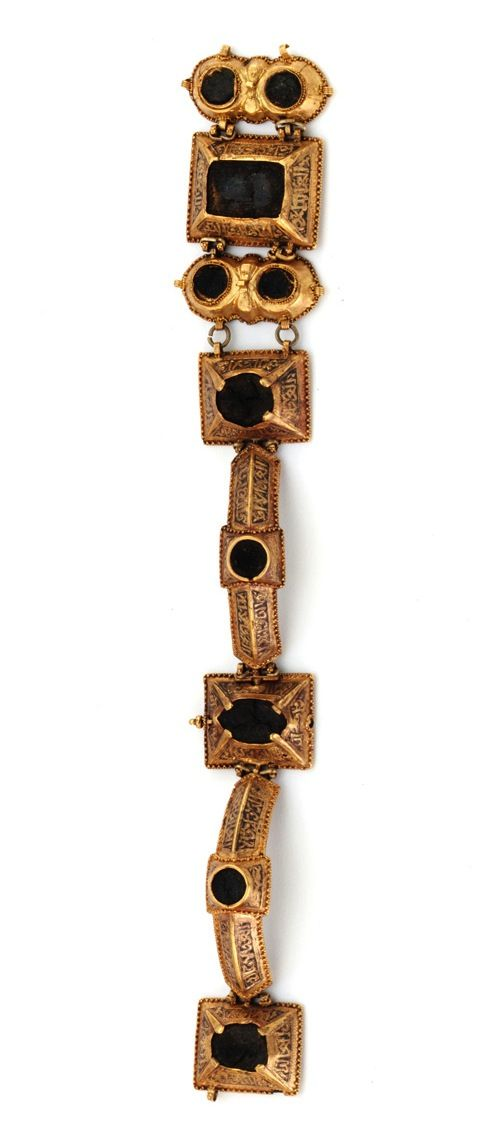 Gold bracelet of eight links | 12th century |       Gold  | Iran