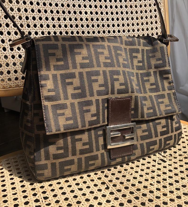 Fendi Zucca Vintage Bag Mama Baguette Etsy Fendi Bags Fendi Baguette