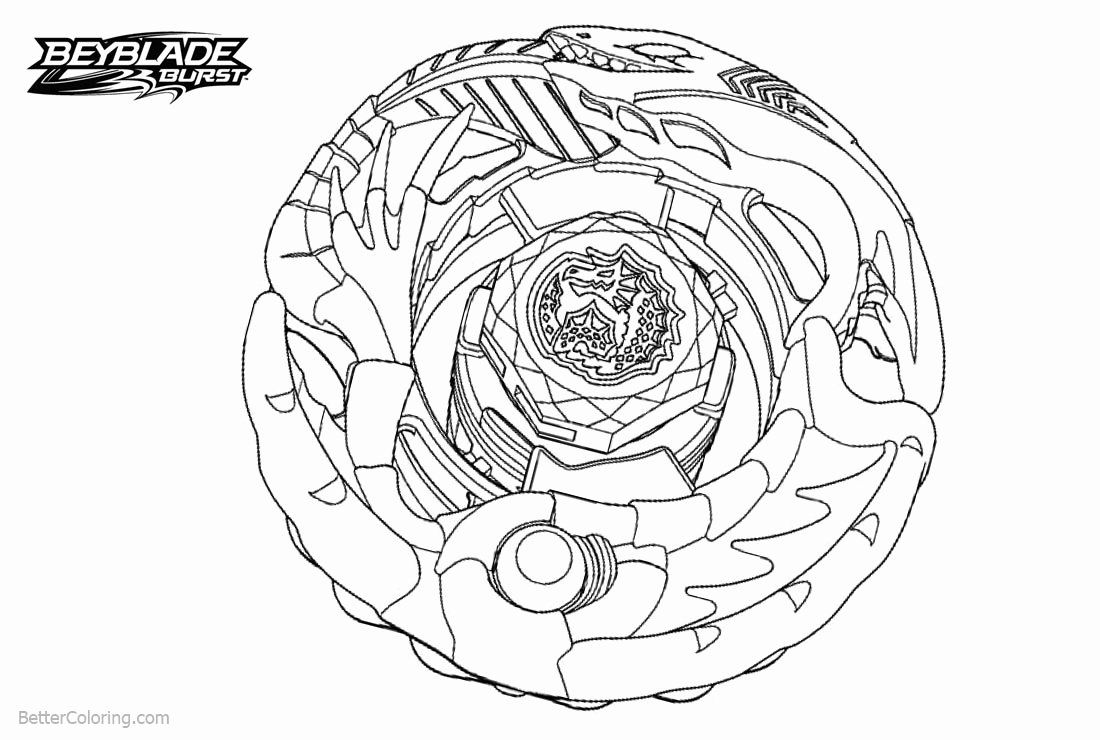 Top 16 Printable Beyblade Burst Evolution Coloring Pages