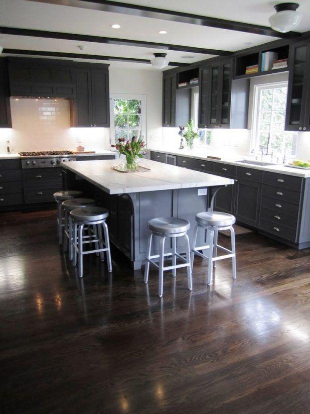 Elegant Room With Dark Wood Flooring Amazing Dark Wood Flooring