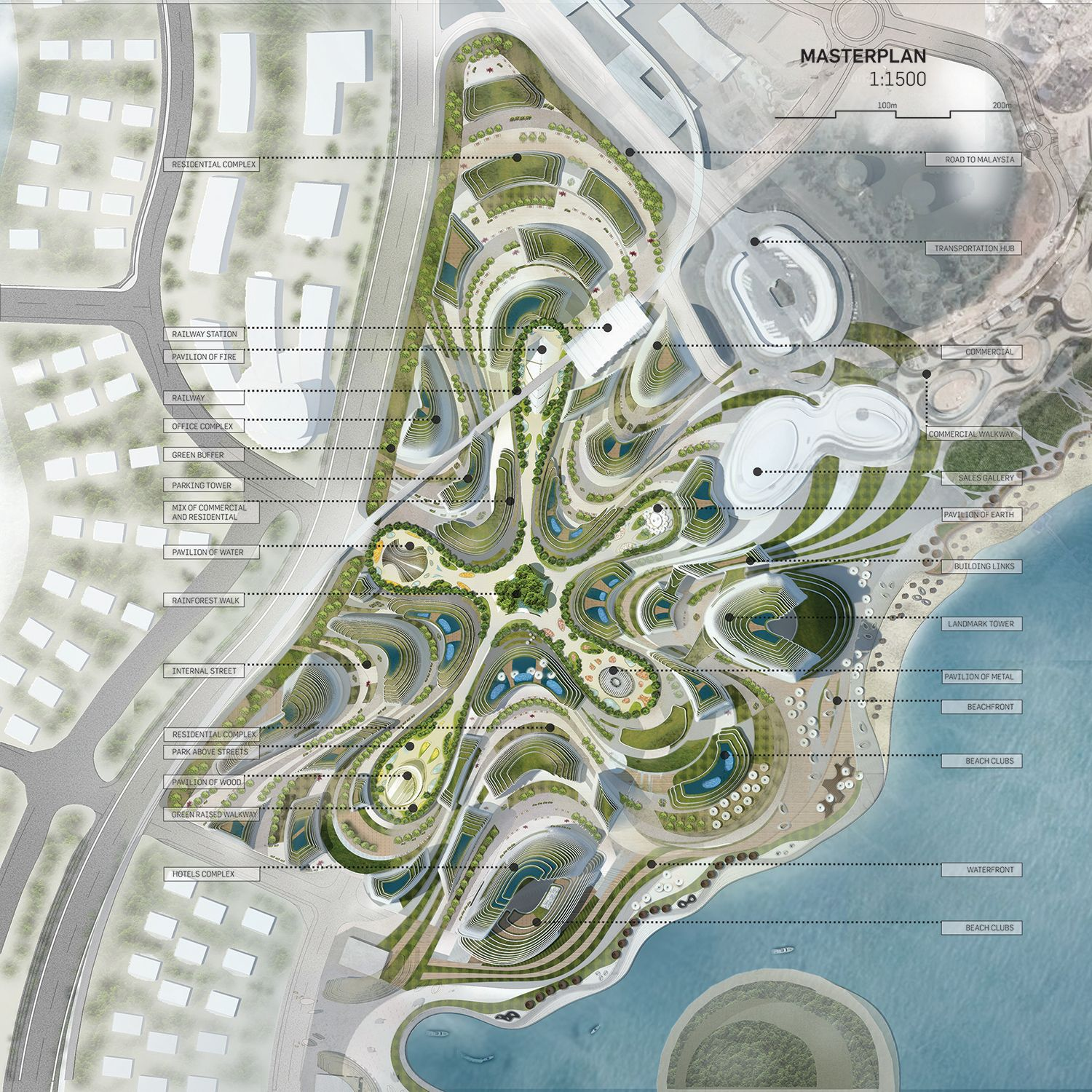 Futuristic Victorian Front Gardens 9 On Garden Design: LAVA Proposes Undualting Forest City For Malaysia
