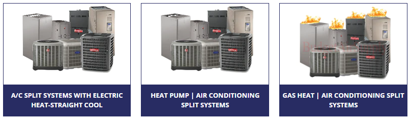 The complete split systems we have here at Budget Air