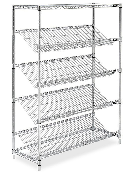 Excellent Slanted Wire Shelving 48 X 18 X 63 H 3793 Shelving In Download Free Architecture Designs Embacsunscenecom