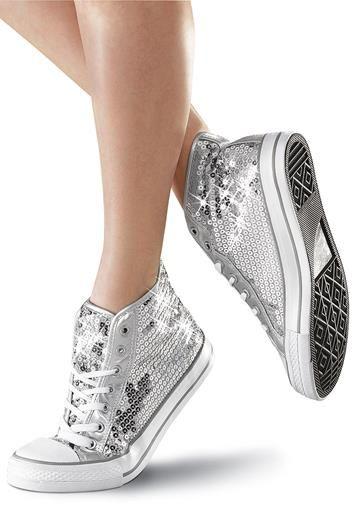Sequin High Top Dance Sneakers   Balera