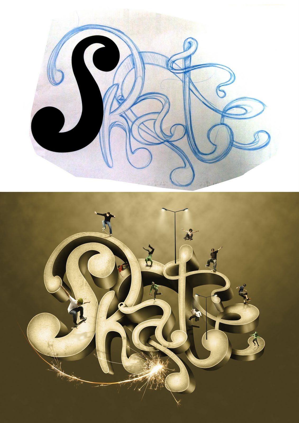 Hugo Ceneviva - Art Director: Typography Skate
