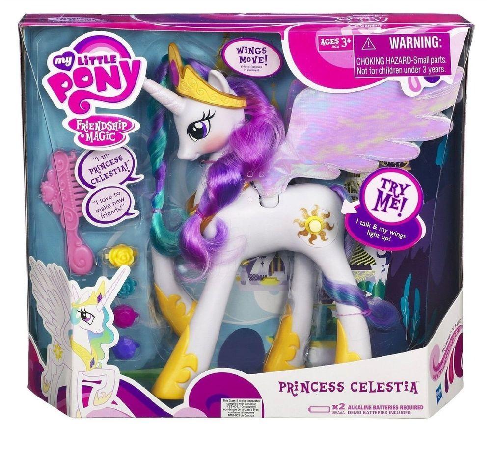 My Little Pony Exclusive Princess Celestia With Talking Light Up Wings Bnib Hasbro Hasbro My Little Pony My Little Pony My Little Pony Princess