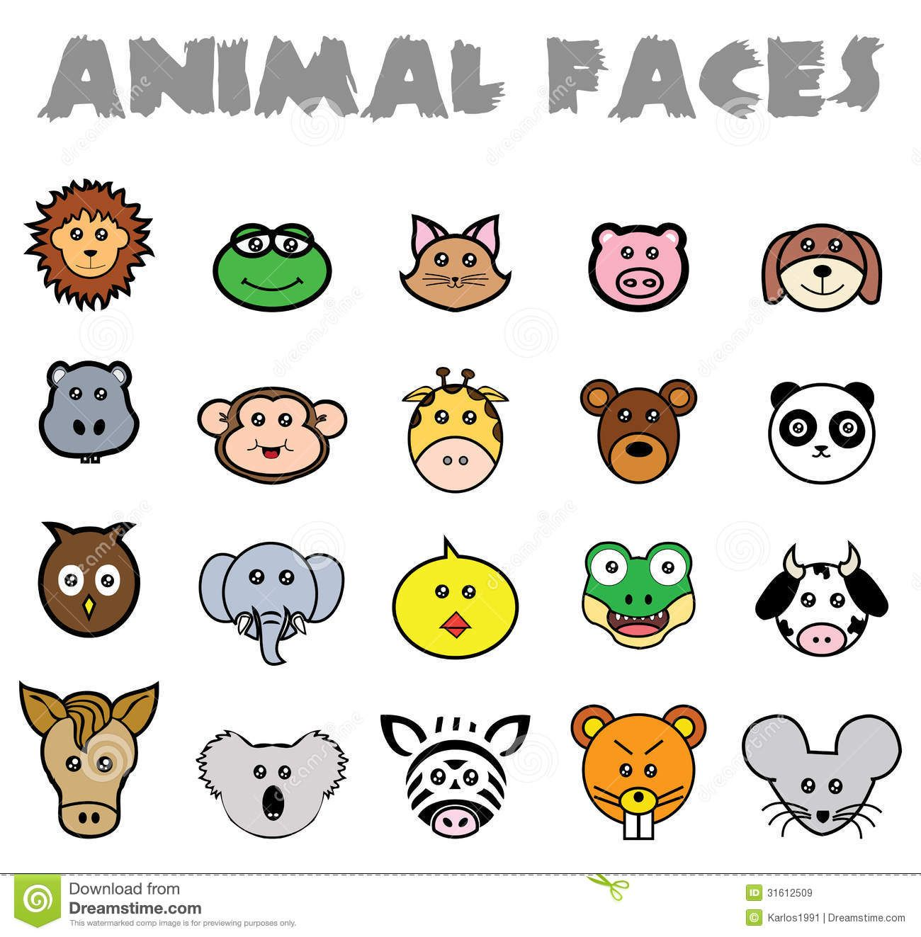Simple Animal Face Drawing Donkey Google Search Art Project