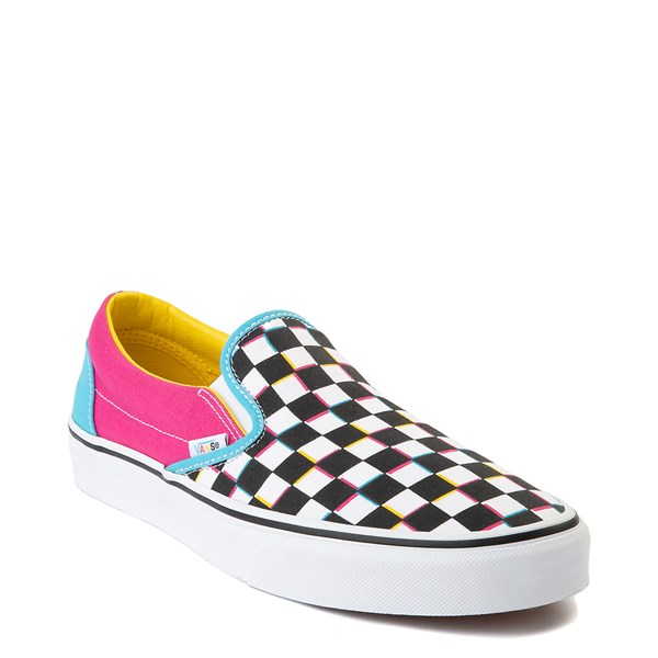 Vans Slip On Checkerboard Skate Shoe Multi In 2020 Vans Slip On Skate Shoes Mens Shoe Stores