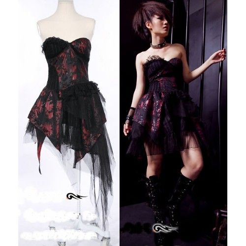 long dress outfit emo