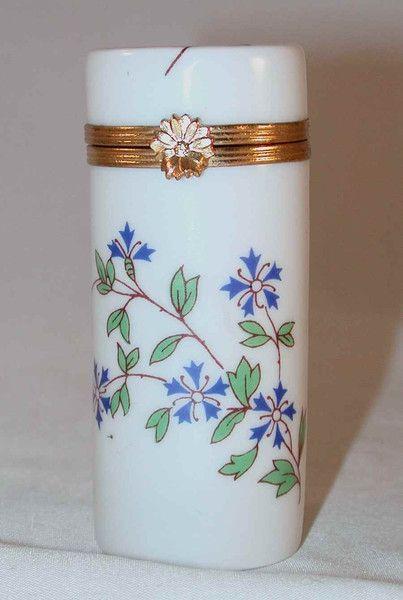 Vintage Cylindrical Shaped Hand Painted Porcelain Box By Bernardaud Limoges France Porcelain Painting Hand Painted Porcelain Porcelain Container