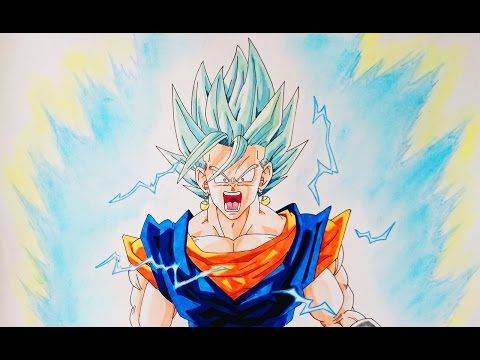 Drawing Dibujando A Vegeta Y Goku Ssj Blue Dragonballsuper Speed Drawing Youtube Dragones Dibujos Dragon Ball