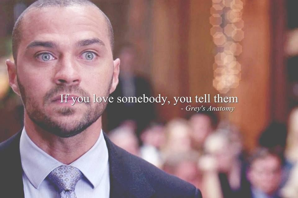 If you love someone, you tell them - Grey\'s Anatomy | Greys anatomy ...