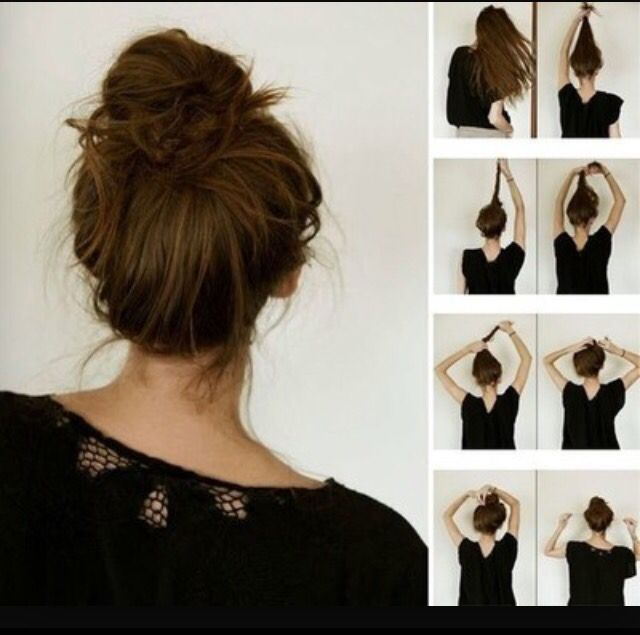 Step By Step Teaching You How To Do A Perfect Messy Bun Normal Bun Hair Styles Long Hair Styles Hair Beauty