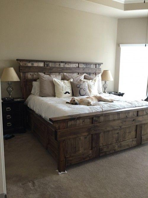 Kind Size Bed Rustic Master Bedroom Farmhouse Bedroom Decor