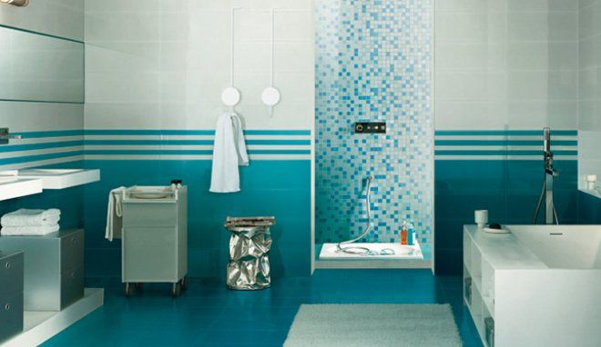 Awesome Salle De Bain Couleur Bleu Contemporary - Amazing House ...