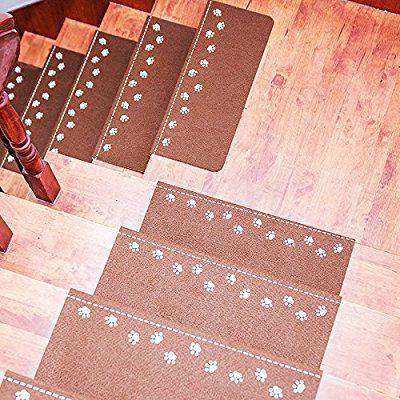 Taiyu 1pcs/set Luminous Carpet Stairs Tread Mats Self  Adhesive Step Pad 4  Color