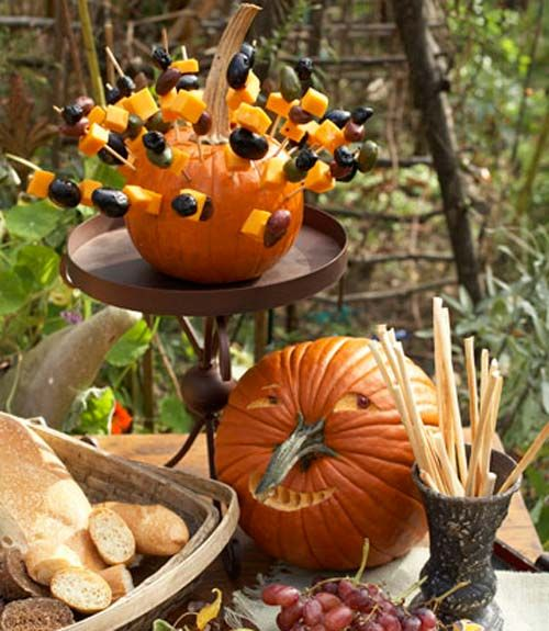 85+ New Ways to Decorate Your Halloween Pumpkins Serving ideas - halloween catering ideas
