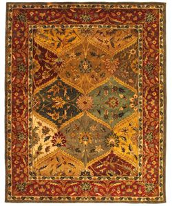 @Overstock - Accent your home decor with this Heritage Kerman rug Hand-tufted rug features a traditional Persian design Wool rug features a multi-color background with a burgundy borderhttp://www.overstock.com/Home-Garden/Handmade-Heritage-Kerman-Burgundy-Wool-Rug-76-x-96/2905613/product.html?CID=214117 $310.99